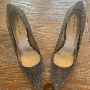 Gold silver champagne Bandolino High Heels size 10